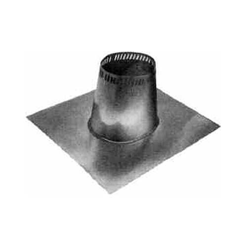 Metalbest 6T-TF Sure-Temp 6' Class A Chimney Pipe Low Roof Flashing for 0/12 to 2/12 Roof Pitch