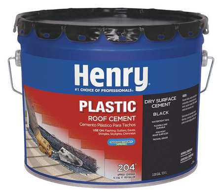 Henry HE204061 Black Plastic Roof Cement, Matte