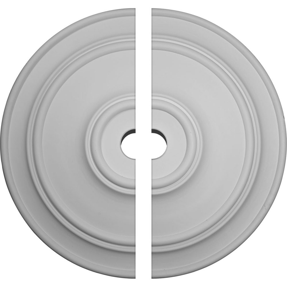 Ekena Millwork Large Classic Ceiling Medallion/Unfinished Polyurethane / Two Piece (Fits Canopies up to 13 1/2') / 54'OD x 6'ID x 4 7/8'P / CM54TCL2-06000