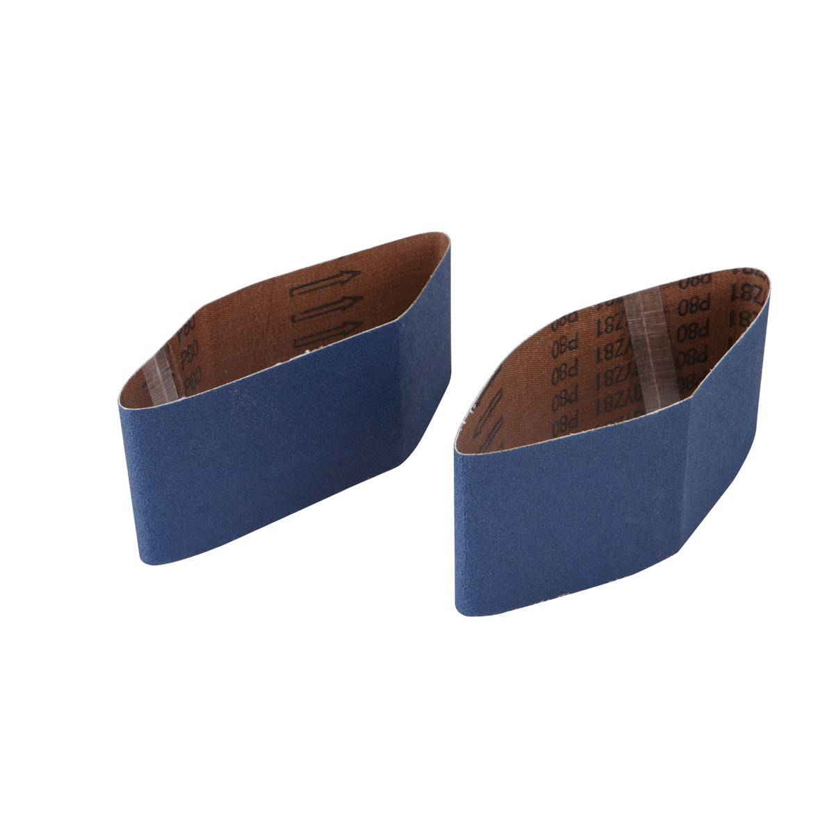 3 in. x 18 in. 80 Grit Zirc Sanding Belt 2 Pc
